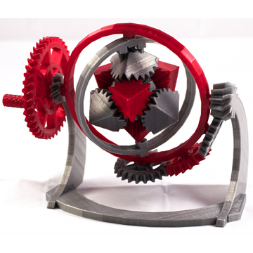 The Gyroscopic Cube Gears 3D Model