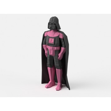 Low-Poly Darth Vader modelo 3D para doble extrusión