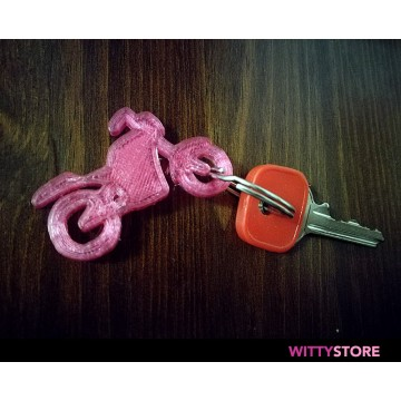 Keyring Motorcycle 3D Model