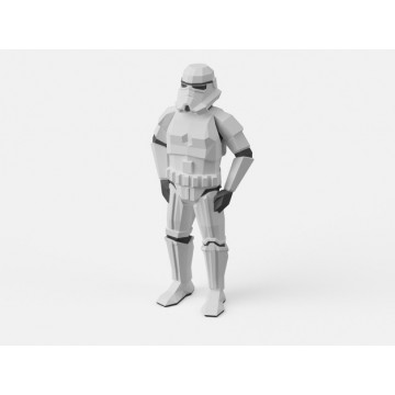 Low-Poly Stormtrooper 3D Model Dual Extrusion