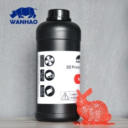 Wanhao 3D Printer UV Resin 1000 ml Red
