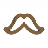 Cookie Cutter Moustaches N2 3D Model