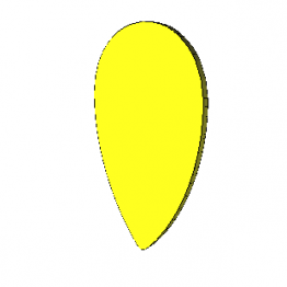 Teardrop Guitar Pick 3D Model