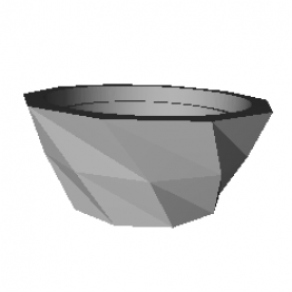 Large Polygonal Vase