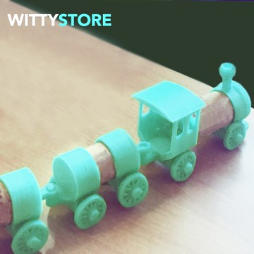 Train toy with corks