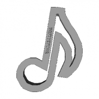 Cookie Cutter Quaver Note 3D Model