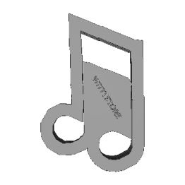 Cookie Cutter Musical Notes 3D Model