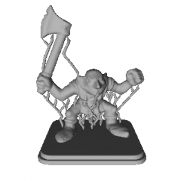 Goblin with Axe Miniature 3D Model