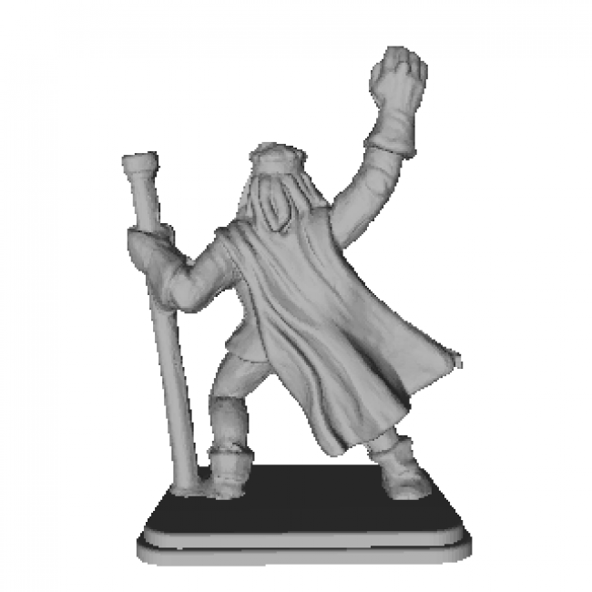 Wizard Miniature 3D Model
