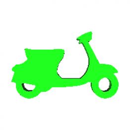 Portachiavi Scooter Modello 3D