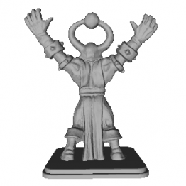 Chaos Mage Miniature 3D Model
