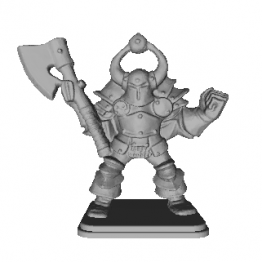 Chaos Warrior Miniature 3D Model