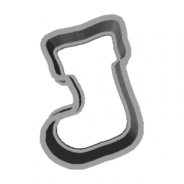 Cookie Cutter Boot 3D Model