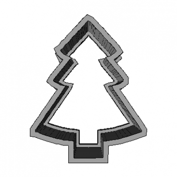 Cookie Cutter Christmas Tree 3D Model