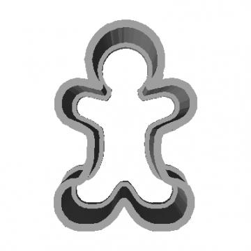 Molde para Galletas Muñeco de jengibre Modelo 3D