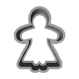 Cookie Cutter Ginger woman 3D Model