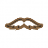 Cookie Cutter Moustaches N1 3D Model