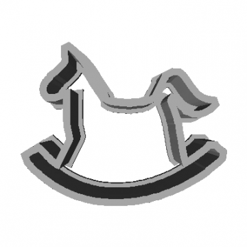 Cookie Cutter Rocking pony 3D Model
