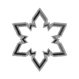 Cookie Cutter Snowflake 3D Model
