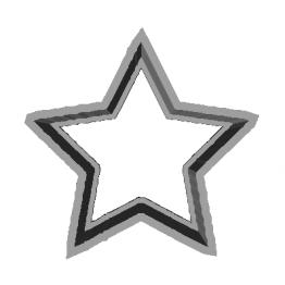 Cookie Cutter Star 3D Model