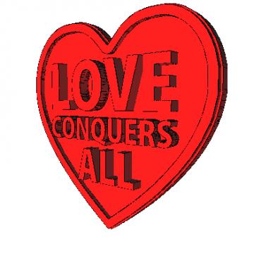 Imán Corazón Love Modelo 3D