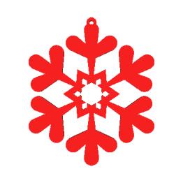 Fiocco di neve modello 3D N1