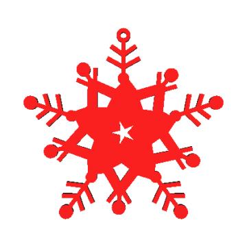 Copo de nieve Modelo 3D N4