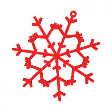 Copo de nieve Modelo 3D N6