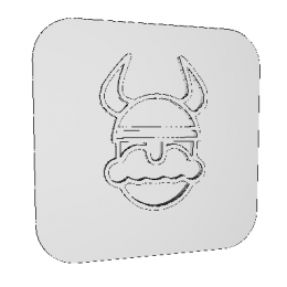 Stamp Old Viking 3D Model