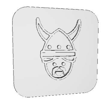 Stamp Viking Man 3D Model