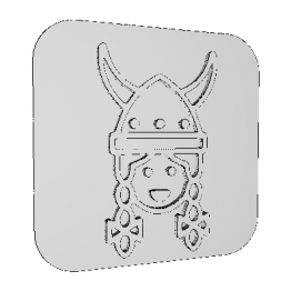 Stamp Viking Woman 3D Model