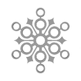 Fiocco di neve modello 3D N2