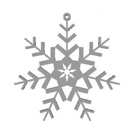 Fiocco di neve modello 3D N3