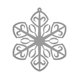 Fiocco di neve modello 3D N5
