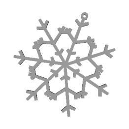 Fiocco di neve modello 3D N6