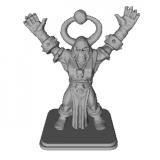 Chaos Mage Miniature 3D Model
